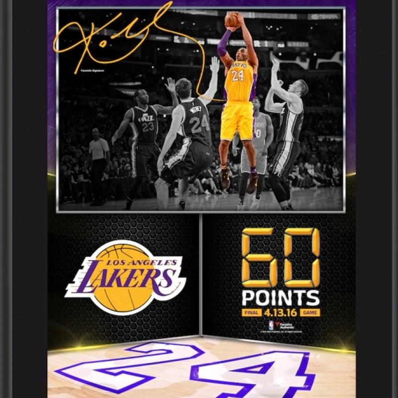 "Kobe Bryant ""Final Game"" Framed Display"