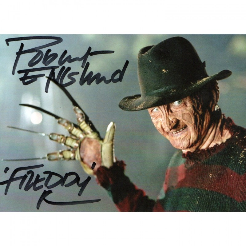 Photograph Signed by Actor Robert Englund