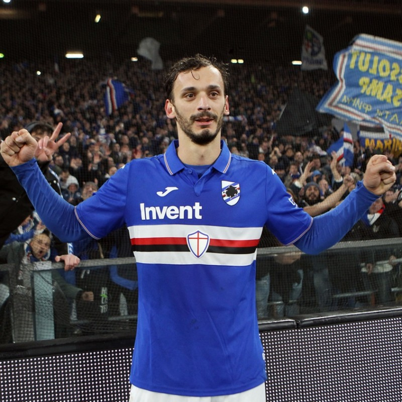 Gabbiadini's Worn Shirt, Genoa-Sampdoria, Special Gaslini