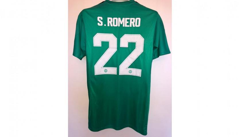 Romero's Match Shirt, Man Utd-Derby County 2018