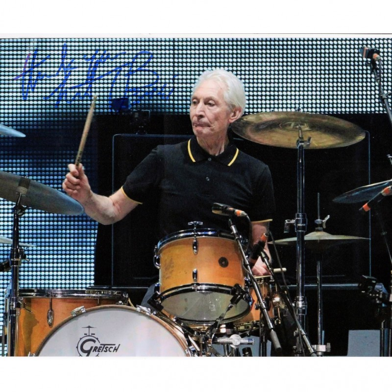 Photograph Signed by Charlie Watts