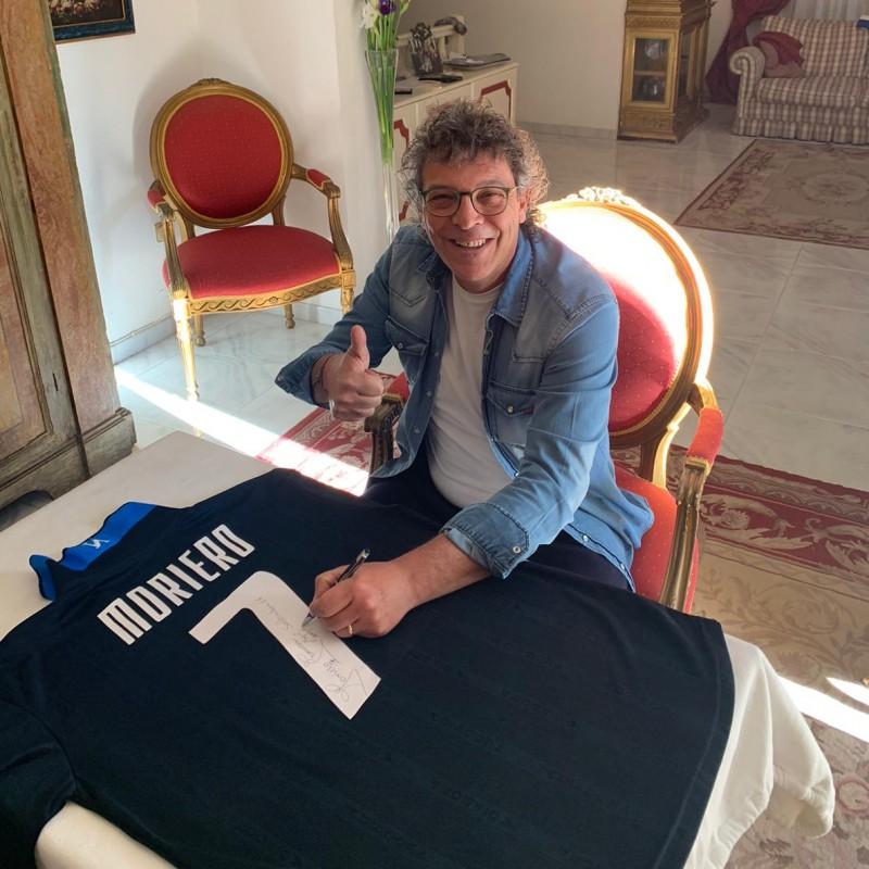 Moriero's Worn and Signed Shirt, Napoli-Salernitana 2001