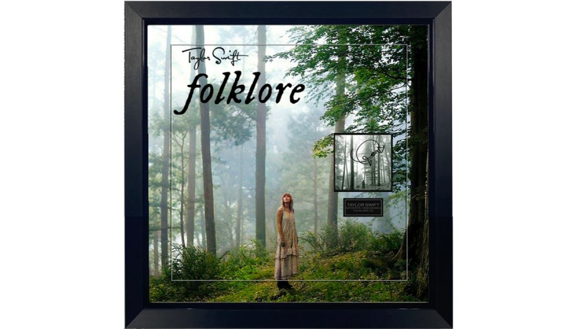 Taylor Swift Signed Folklore Display