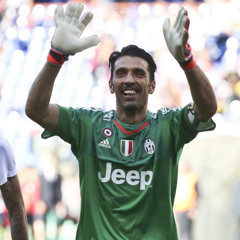 Match worn Buffon shirt, Juventus-Lazio Serie A 20/04/2016