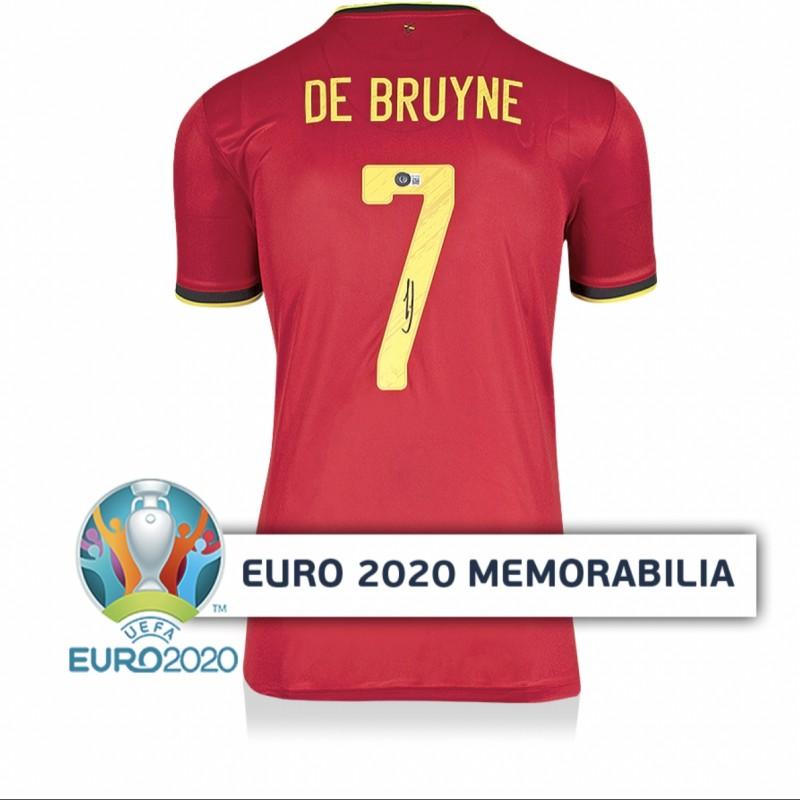 De Bruyne's Belgium Signed Shirt - Official UEFA EURO 2020