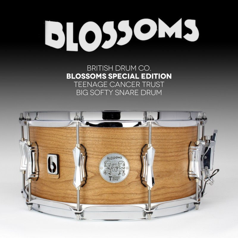 Joe Donovan, Blossoms Exclusive 'Blossoms' British Drum Co. Snare and Framed LP Signed by Whole Band