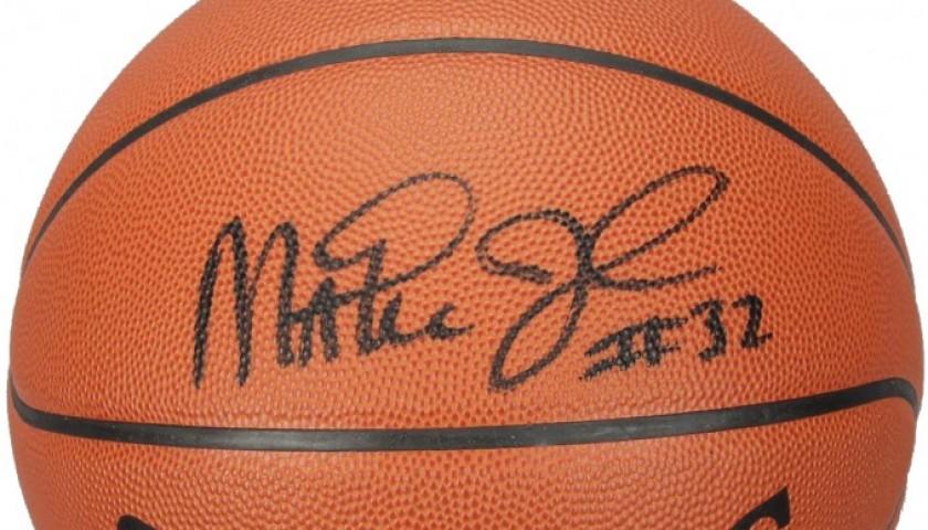 NBA basketball signed by Magic Johnson