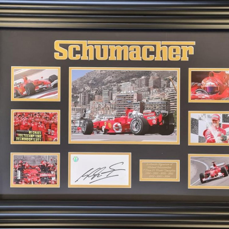 Michael Schumacher Ferrari Signed Montage