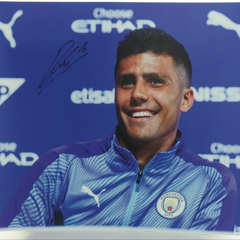 """Manchester City's New Signing Rodri"" Signed Picture"