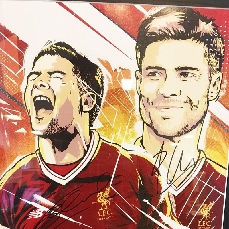 Limited Edition Steven Gerrard & Xabi Alonso Signed Artwork from LFC Legends Match 2018
