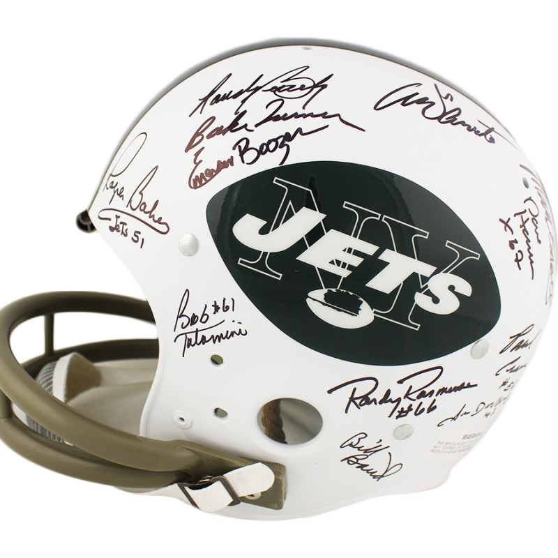 1969 New York Jets Team Signed TK Suspension NFL Helmet