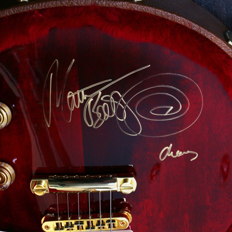 Gibson Les Paul Guitar signed by Matt Bellamy from Muse