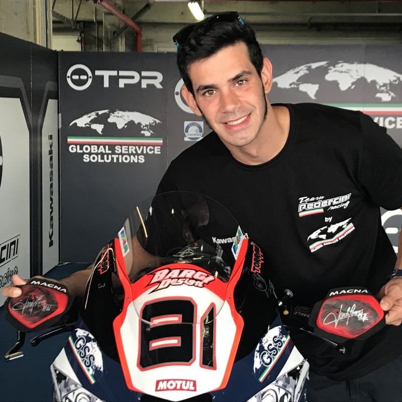 Knee Sliders Worn and Signed by Jordi Torres at Portimao
