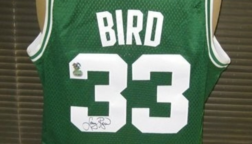 separation shoes e6dda 16d9e Official Replica Boston Celtics Jersey Signed by Larry Bird ...