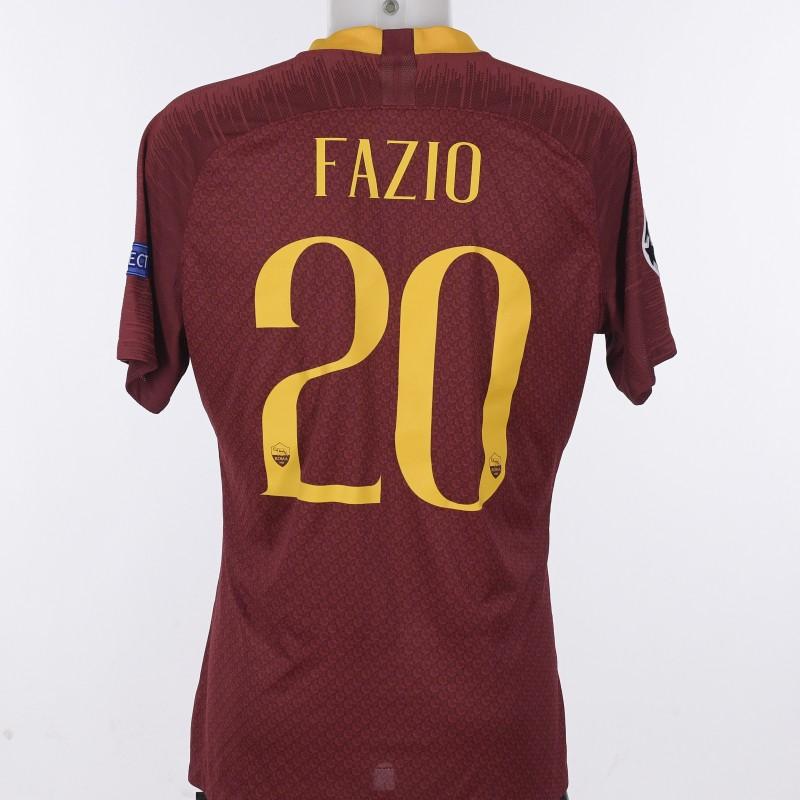 Fazio's Worn Shirt, Roma-Porto CL 18/19