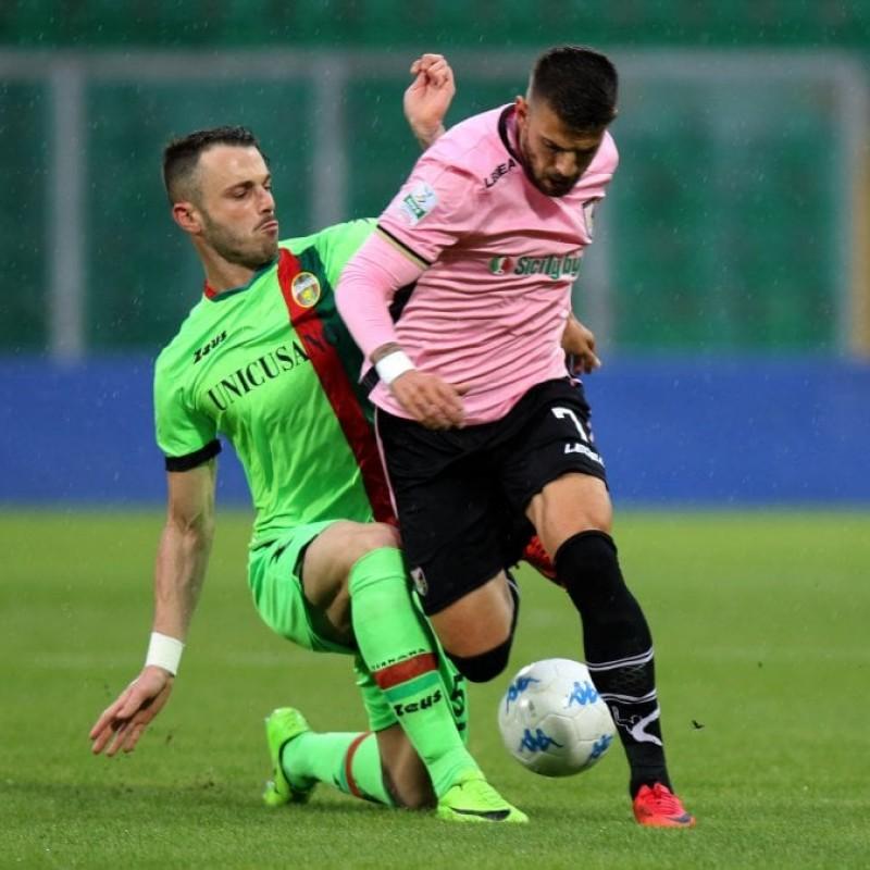 Zanon's Match-Worn Palermo-Ternana Shirt, 2017/18 Serie B
