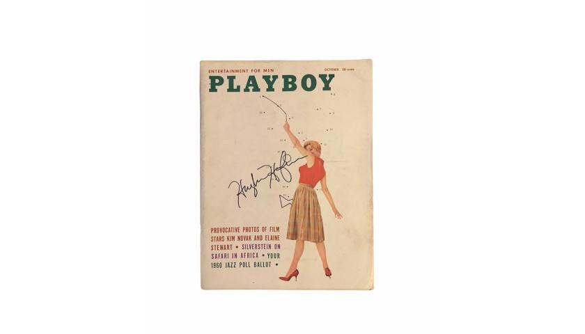 Hugh Hefner Signed Playboy Magazine October 1960
