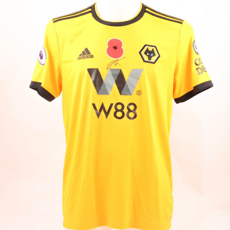 Dendoncker's Wolves FC Issued and Signed Poppy Shirt