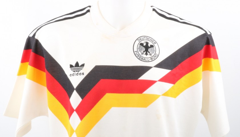 Eckestein Match-Worn Shirt, Germany-Italy Euro 1988