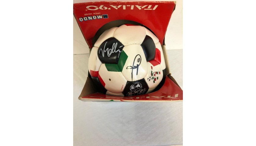 Official Italia '90 Football - Signed by Vialli and Baggio