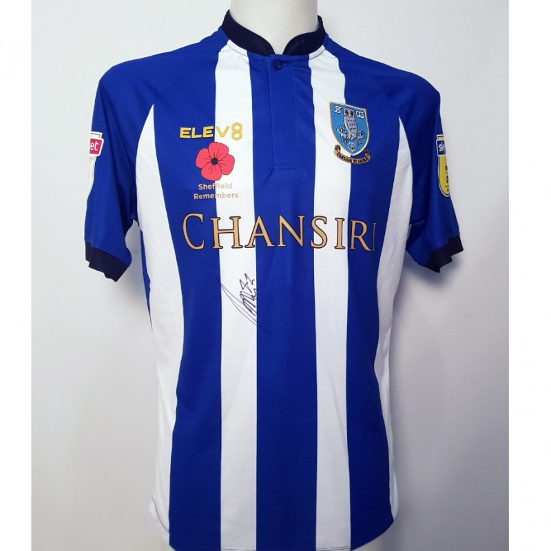 Matt Penney's Sheffield Wednesday Worn and Signed Poppy Home Shirt