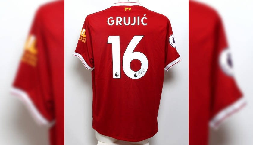 """Grujic Signed Limited Edition """"Seeing is Believing"""" 2017/18 Liverpool FC shirt"""