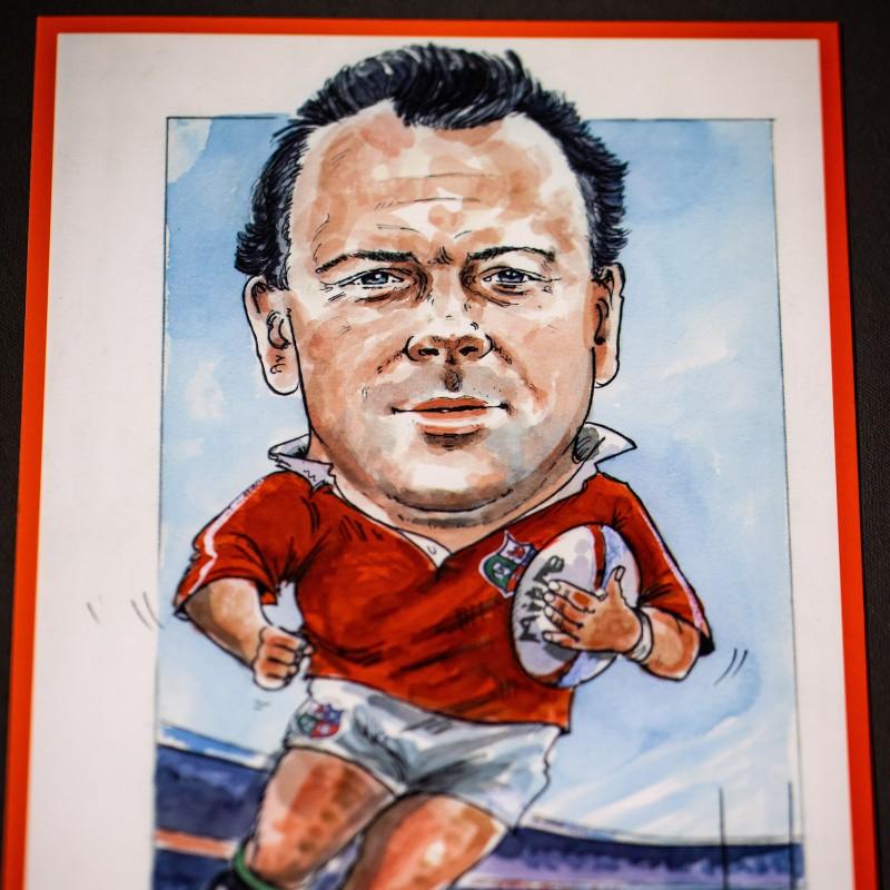Ieuan Evans Caricature