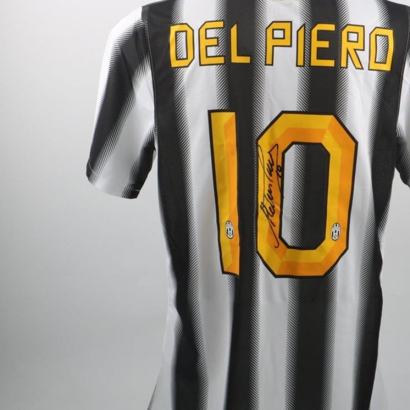 Official replica Del Piero Juventus shirt, Serie A 11/12 - signed