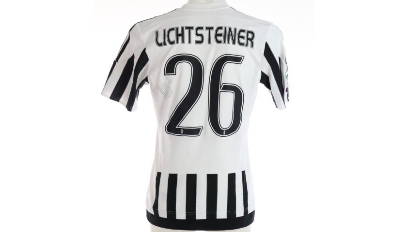 Lichtsteiner's Juventus Worn and Signed Shirt, 2015/16