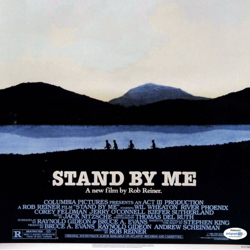 """Corey Feldman Hand Signed """"Stand by Me"""" Movie Poster"""