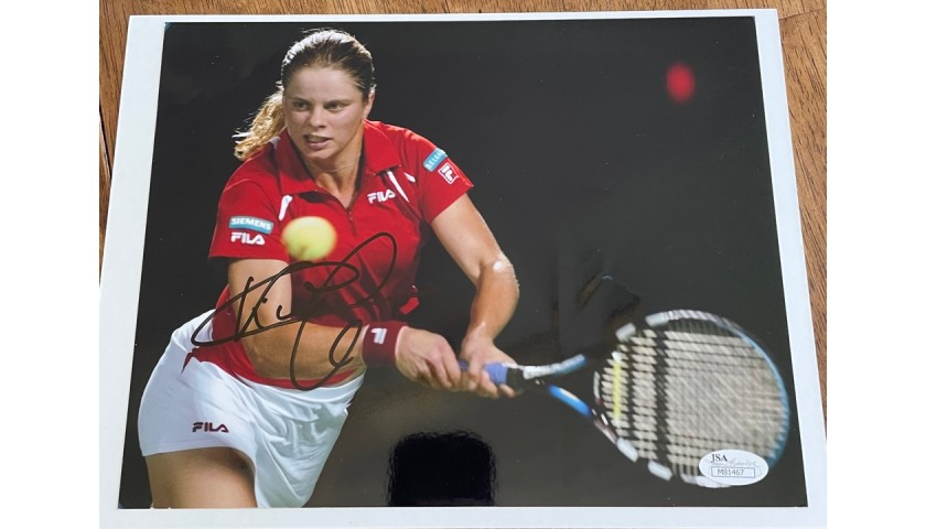 Kim Clijsters Signed Photo