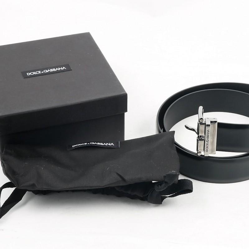 Tiziano Ferro's Black Belt with Box and Bag #2