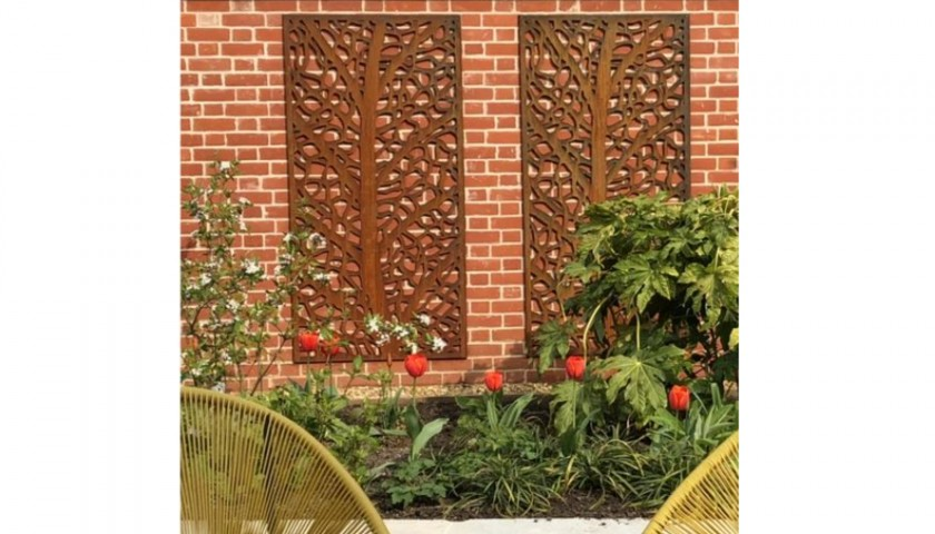 32 - Decorative Garden Screen Duo