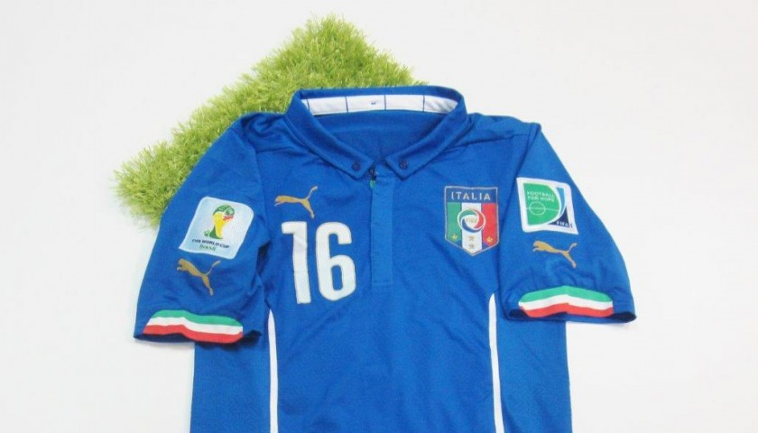 15bcca202 De Rossi Italy issued/worn shirt, Brasil FIFA World Cup 2014 ...