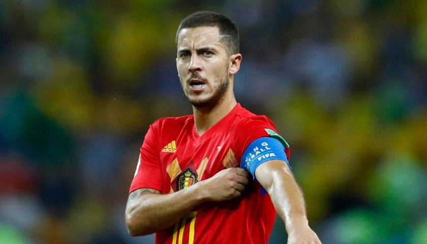 Official Belgium 2019 Shirt Signed by Hazard