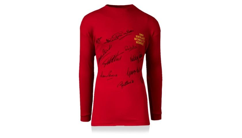 1966 World Cup Winners - England replica signed shirt