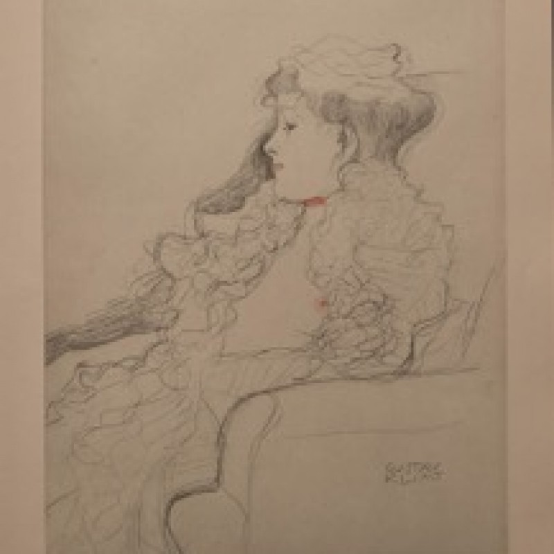 """Wartenspiel"" by Gustav Klimt"