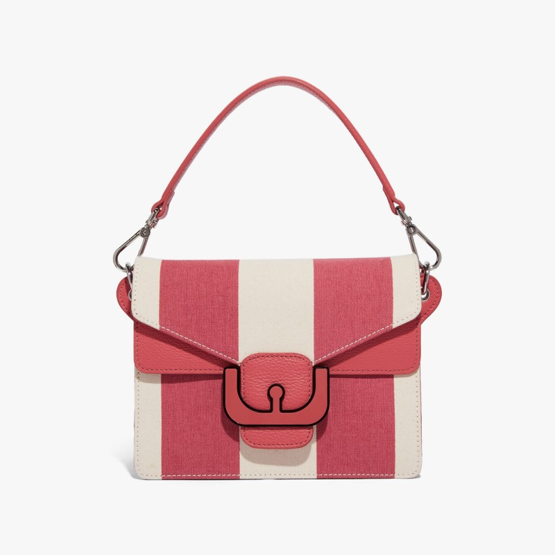 Coccinelle Bag - Ambrine Striped Canvas