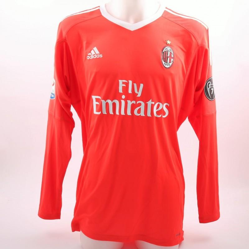 Donnarumma's Milan Match-Issue Serie A 2017/18 Signed Shirt