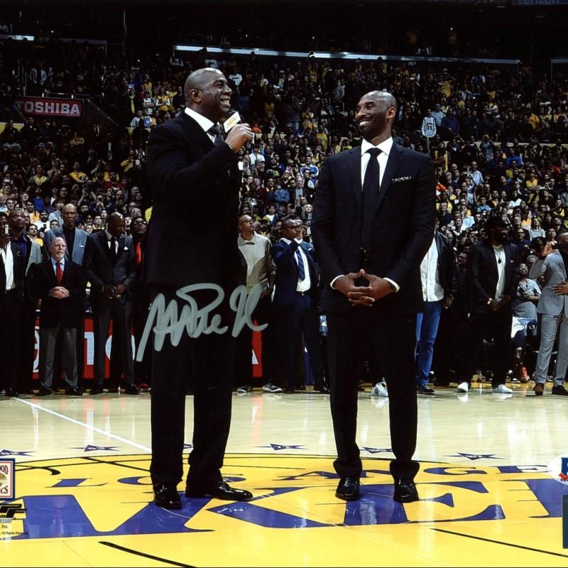Magic Johnson Signed Photograph with Kobe Bryant