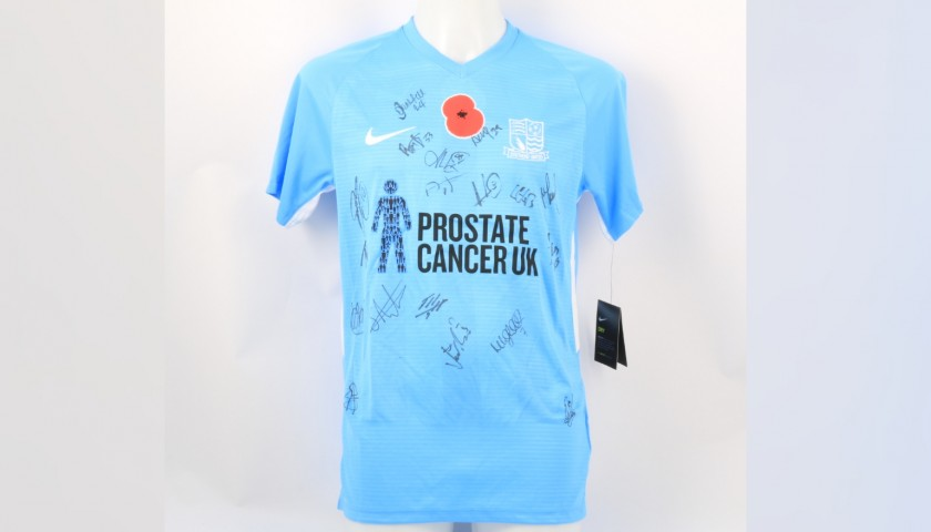 Southend United Official Poppy Shirt Signed by the Team