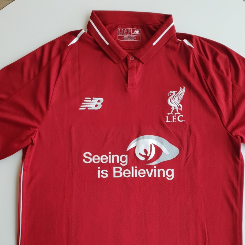 Match-Issued 2018/19 LFC Home Shirt signed by Daniel Sturridge
