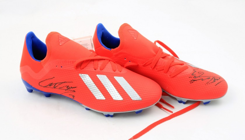 tenedor Asentar obesidad  Adidas X 18.3 Football Boots - Signed by Patrick Cutrone - CharityStars