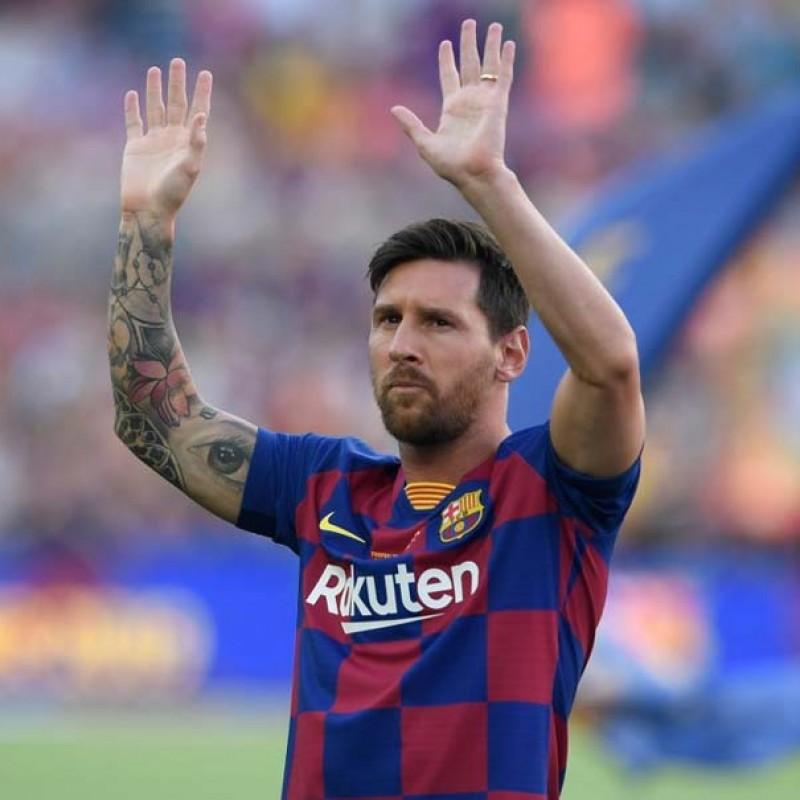 Messi Signed Barcelona Mini-Ball