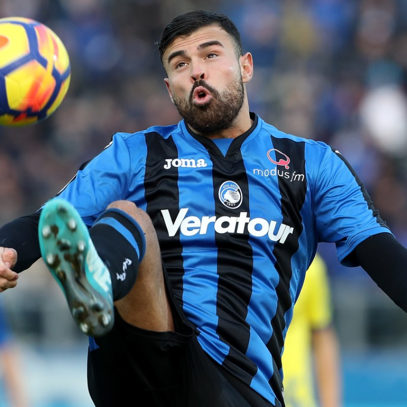 Petagna's Match-Issued/Worn 2017/18 Atalanta Shirt - Signed