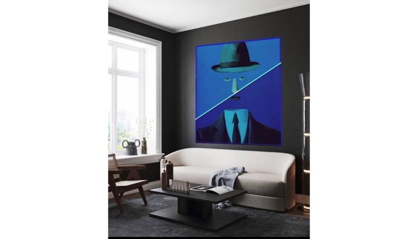 """Minimal man vs Magritte"" by Mr Ogart"
