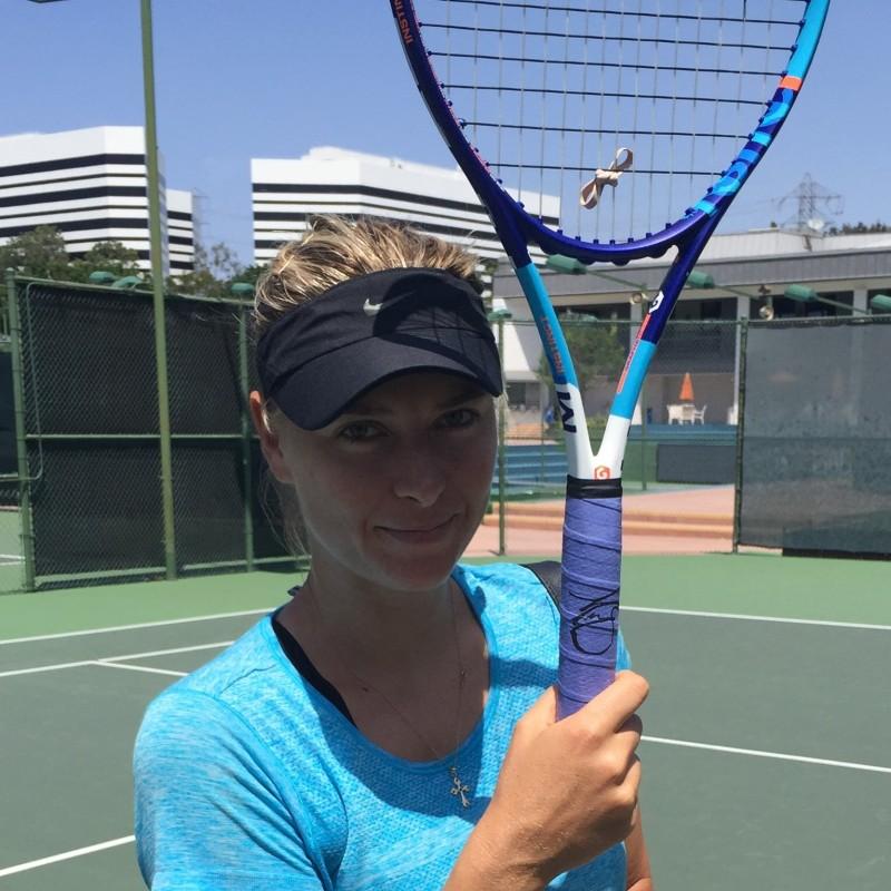 Sharapova's used and signed racket
