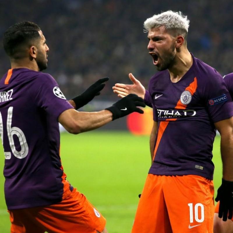 Agüero's Manchester City Match Shorts, FA Cup 2018/19