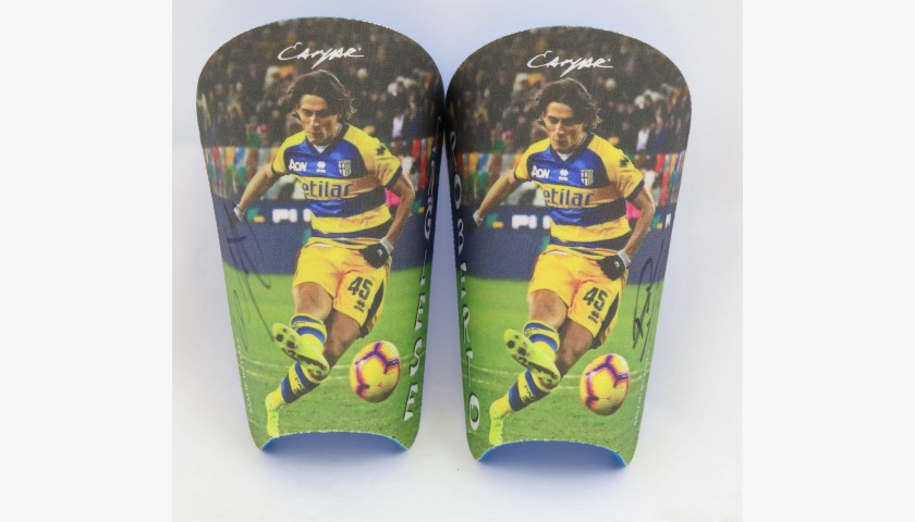 Shin Pads Custom Made for Roberto Inglese - Signed