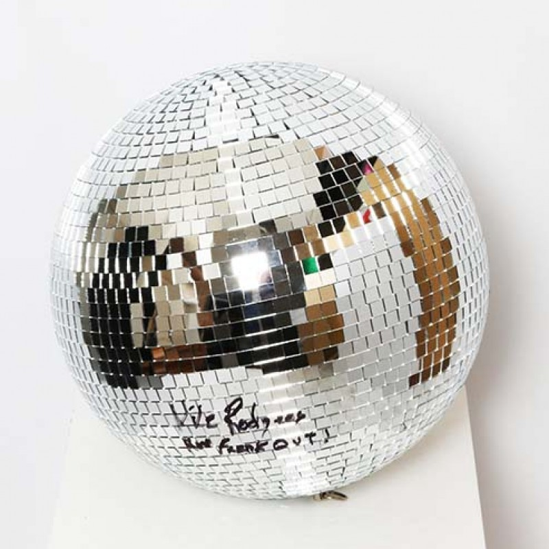 Nile Rodgers Signed Disco Mirror Ball